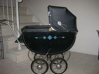 Antique Baby Wooden Stroller by Headstrom
