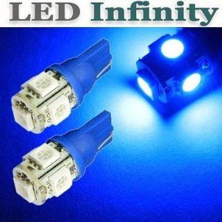 2x Sky Blue T10 5 SMD LED Parking City Light Chevrolet Corvette Camaro