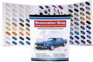 144 Auto Paint Color Chart/Chips Ac rylic Enamel/Lacquer