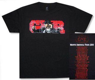 GUNS N ROSES AXL SCREAM GNR 2011 TOUR ORLANDO SALT LAKE CITY T SHIRT