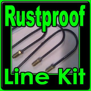 Rustproof metal brake line kit Chev cars 1940 1976  replace rusted
