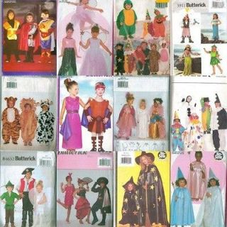 OOP Butterick Kids Halloween Costume Sewing Pattern Uncut Boys Girls