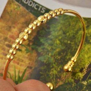 Pretty 9K Real Gold Filled Children Womens Cuff Bracelet,Nicke l Lead