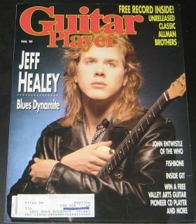 Guitar Player Magazine August 1989 Jeff Healey