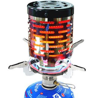 New Portable Backpacking Stove Heater for Gas Burner Camping Emergency