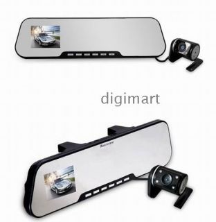 Dual lens Car DVR Rear View Mirror Reverse Camera Rearview System with