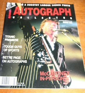 Autographs paul mccartney