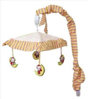Musical Mobile For Jungle Monkey   Pink Baby Crib Bedding Set By Sisi