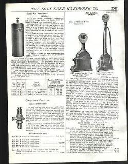 1925 AD Curtis Gas Garage Filling Station Air Pumps Stands Glass Globe