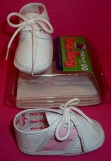 Darling 210 Baby Infant Newborn Saddle Oxford PINK & White Shoes
