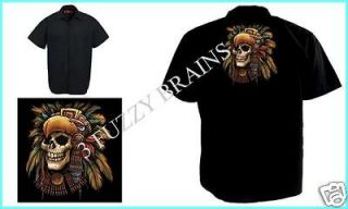 Aztec Nation Native Headdress Skull Profile Red Kap Black SP24 Work