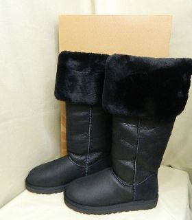 UGG Australia Over The Knee Bailey Button Black Boots US Size 9 NEW