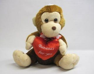 Monkey Bananas For You Love Teddy Bear Plush Stuffed Animal