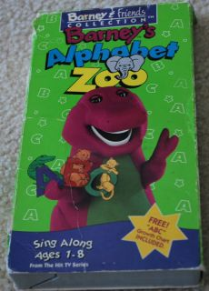 BARNEY & FRIENDS COLLECTION BARNEYS ALPHABET ZOO VHS