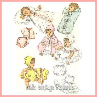 Vtg Baby Doll Dress Bonnet Pattern ~ 19 20 21 Betsy Wetsy, Tiny