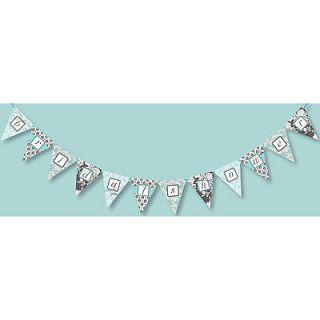 12 Doc Milo Tiffany Blue & Black Brocade Bridal Shower Party Banner