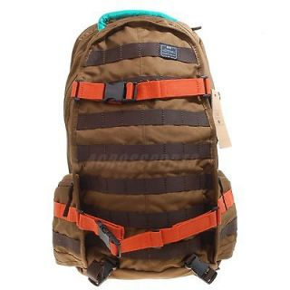 Nike SB Backpack PRM Premium Brown Orange Skate Boarding Bag Bookbag