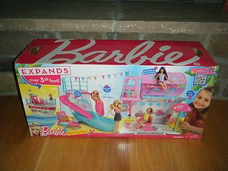 BARBIE SISTERS CRUISE SHIP   Expands Over 3 1/2 Feet   Bunk Beds Pool