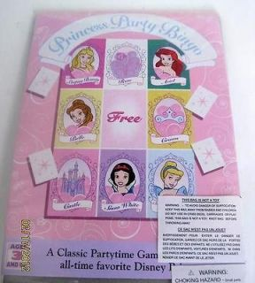PRINCESS BINGO Party Birthday Decoration Favor Supplies Snow White