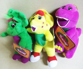 Newly listed NEW SET OF BARNEY BABY BOP B.J PLUSH SOFT TOY (TAG)