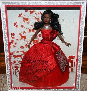 2012 HOLIDAY BARBIE AFRICAN AMERICAN BARBIE BLACK BARBIE DOLL MATTEL