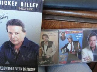 MICKEY GILLEY Live Branson VHS & 3 NEW Sealed Cassettes