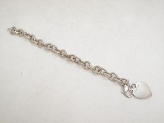 Tiffany + Co. Sterling Silver Heart Tag Bracelet .925