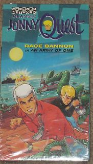 Cartoon Network JONNY QUEST RACE BANNON in AN ARMY OF ONE VHS~NEW and