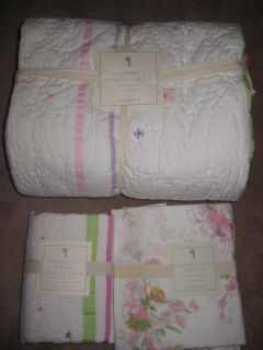 New Pottery Barn Kids Hannahs Ribbon Fairy Twin Quilt