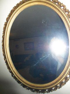 OVAL TURNER WALL MIRROR HANGING ELEGANT HOLLYWOOD REGENCY ORNATE