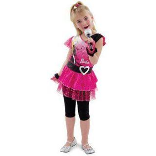 Barbie Rockin Diva Pop Star Costume 80s Girls Dress Capri Pants