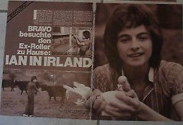 german clipping IAN MITCHELL NOT SHIRTLESS BCR ROLLERS ROSETTA STONE