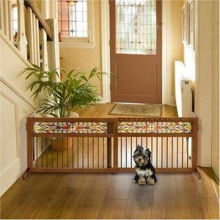 Rubberwood Dog Gate.Indoor Pet Barrier.Sustainable Animal Fence.Adjust