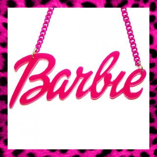 BARBIE NECKLACE PINK NICKI MINAJ DOLL FANCY DRESS RETRO *CHOOSE YOUR