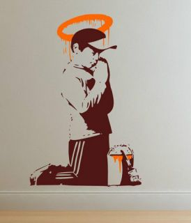Banksy Graffiti Forgive Us Our Trespassing  Large Wall Stickers