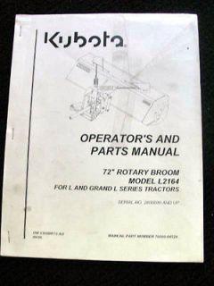 KUBOTA L & GRAND L SERIES TRACTOR 72 ROTARY POWER SWEEPER BROOM