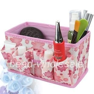 Newly listed Auction Pink Makeup foldable Cosmetic Storage Bag Box