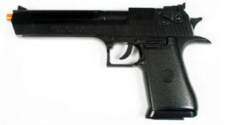 Licensed Airsoft Gun Desert Eagle .44 Magnum Spring Pistol Black BAX