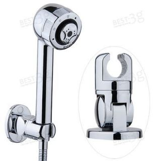Bathroom Hand Held Shower Head Rotatable Wall Mount Mounted Bracket