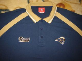 ST LOUIS RAMS NFL POLO SHIRT MENS 2XL