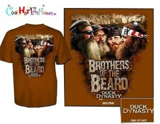 Authentic Duck Dynasty Brothers of the Beard Shirt Si Phil Jase Willie