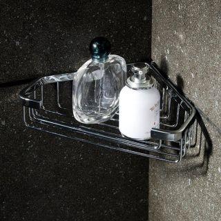 Home Bathroom Vanity Shower Basket Bar Shelf Stainless Steel Chrome