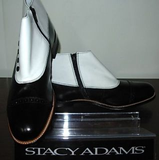 NEW ARRIVAL Stacy Adams Mens Madison Black White Dress Boot Boots