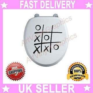 Funny Toilet Seat Decal Humor Wall Art Vinyl Graphics Sticker Dribble