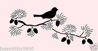 PINE CONE BOUGH STENCIL BRANCH BIRD STENCILS TEMPLATE BORDER CRAFT NEW
