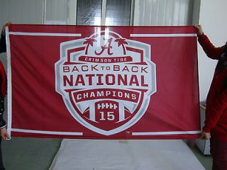 New Alabama Crimson Tide 3x5 Flag 2012 Back to Back BCS Champions