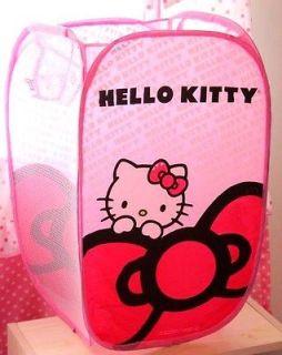 Hello Kitty Foldable Laundry Toys Basket Tidy Clothes Socks Storage