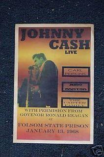 Johnny Cash Poster 1968 Folsom Prison June Carter