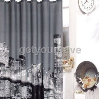72 Beautiful City Night Scene Bathroom Fabric Shower Curtain