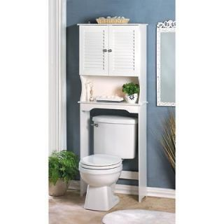 Nantucket Styled Bathroom Space Saver Cabinet White 62 tall NEW